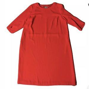 Devernois Red Sheath Dress Size 48 US 16